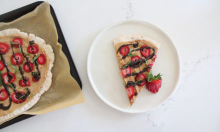 Vegan Strawberry Basil Balsamic Pizza