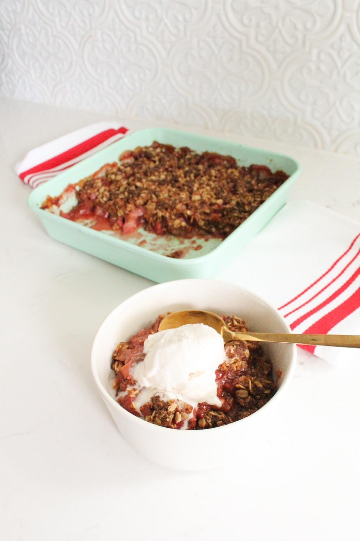 Strawberry Rhubarb Crisp Recipe Gluten Free Dairy Free