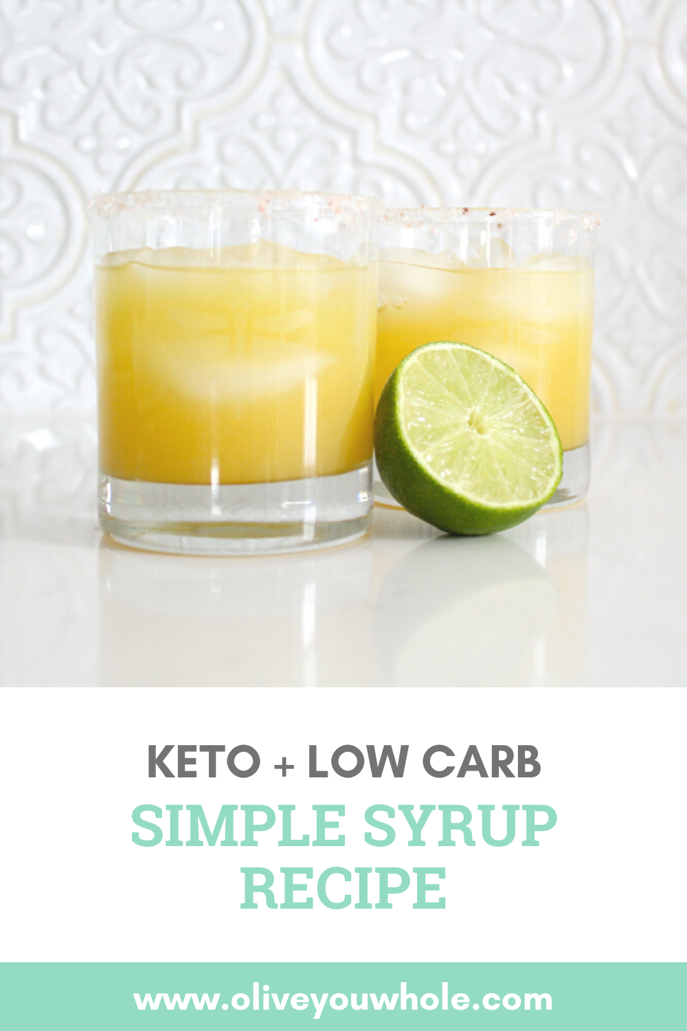 Keto Simple Syrup Pinterest