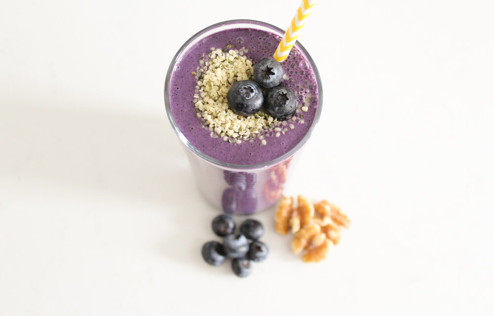 Blueberry Muffin Smoothie Recipe (Dairy Free)