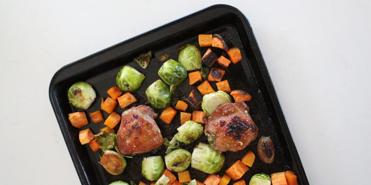 Dijon Chicken Thighs Sheet Pan Meal (Paleo + Whole30)