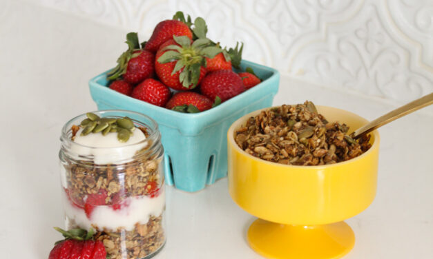 Vegan Protein Granola Recipe + Parfait (Dairy Free)