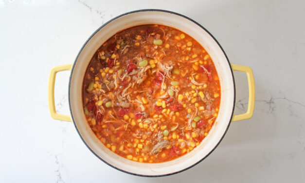 Traditional Brunswick Stew with Chicken and Pulled Pork