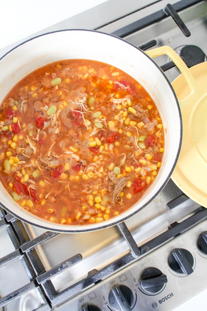 Brunswick stew with pulled pork