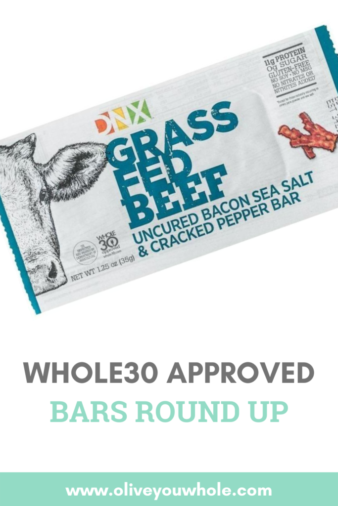 Whole30 Approved Bars Pinterest