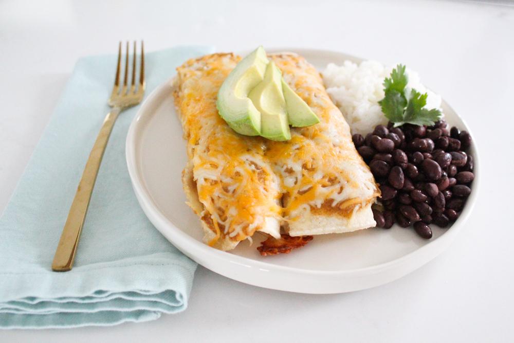Green Chile Chicken Enchiladas Casserole