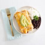 Green Chile Chicken Enchiladas Casserole-5