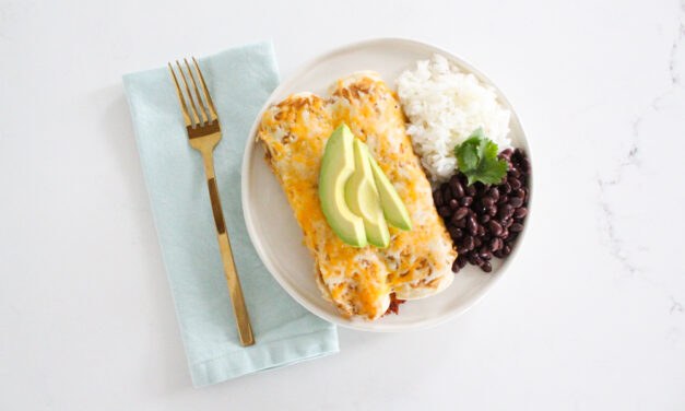 Green Chile Chicken Enchiladas Casserole
