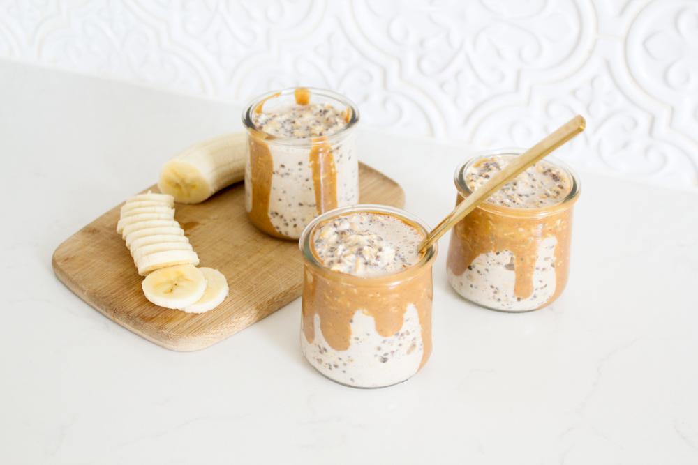 Overnight Oats with Peanut Butter (Gluten Free)