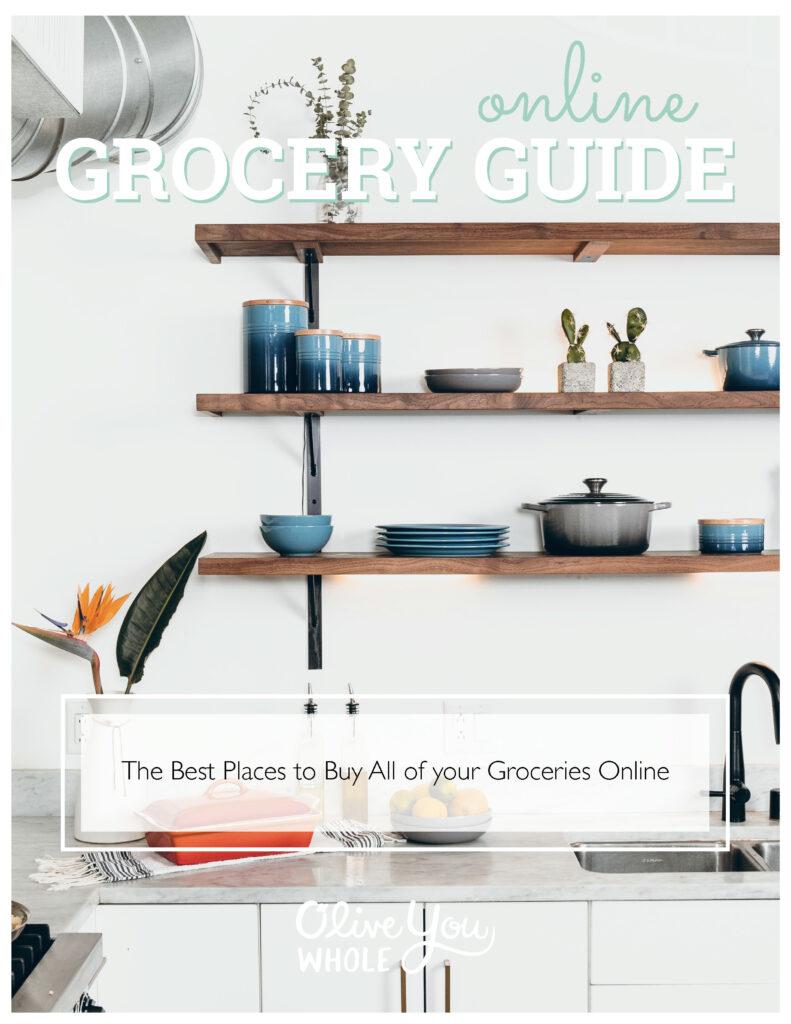 Online Grocery Guide Prep Cook Freeze Cookbook Bonus