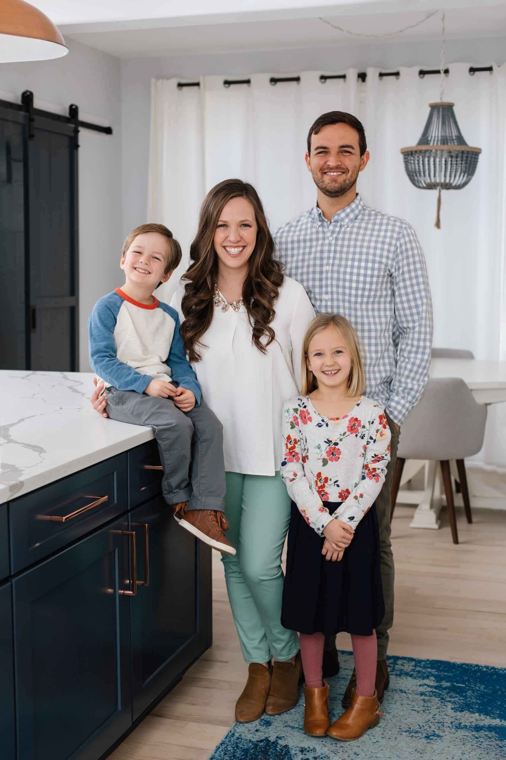 Prep, Cook, Freeze Cookbook Author Caroline Fausel Family