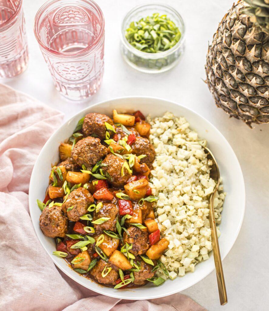 Prep, Cook, Freeze Cookbook Hawaiian Meatballs